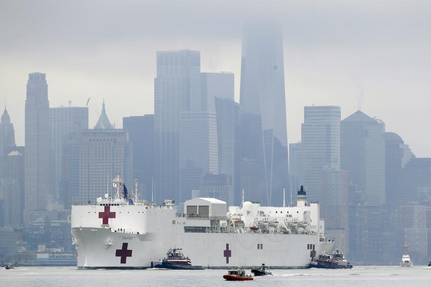 U.S. coronavirus death toll rises past 3,000 on deadliest day